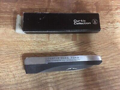Vintage Curtis Dura-Torq Pocket Knife ~ Advertising ~ Original Box ~ Hand Honed