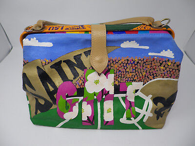 Lsu Tailgate Golf (Great looking Painted Canvas Purse Carry All Tailgating LSU Tigers Saints Golf)