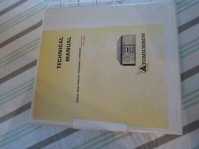 Collectable Rare Copy Atomichron Cesium Atomic Frequency Standard Manual Bibli