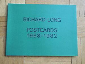 RICHARD LONG. postcards 1968-1982. catalogue d'exposition. Bordeaux 1984