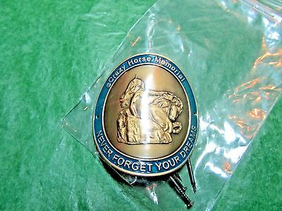 CRAZY HORSE MEMORIAL NEVER FORGET YOUR DREAMS SOUTH DAKOTA HIKING MEDALLION-H48