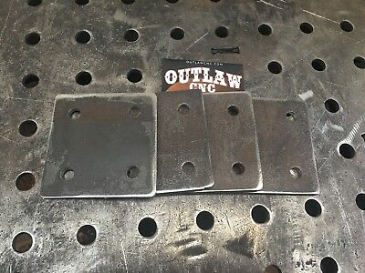 4 Steel Base Plates 14 X 4 X 4 With 4 Holes 4x4 716 Holes
