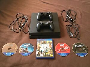 PS4 with 5 games and 2 controllers Kalgoorlie Kalgoorlie Area Preview