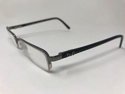 Dolce Gabbana Halfrimless Eyeglasses Italy D&G5001 079 49-17-135 Silver SX16