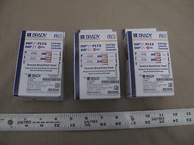 3 New Brady Label Cartridge M21-500-499-tb Terminal Blockpatch Panel Bmp21