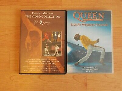 FREDDIE MERCURY VIDEO COLLECTION& QUEEN LIVE AT WEMBLEY DVD'S PAL