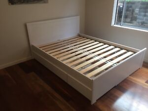 Queen Beach Style Bed Frame With Storage Beds Gumtree Australia