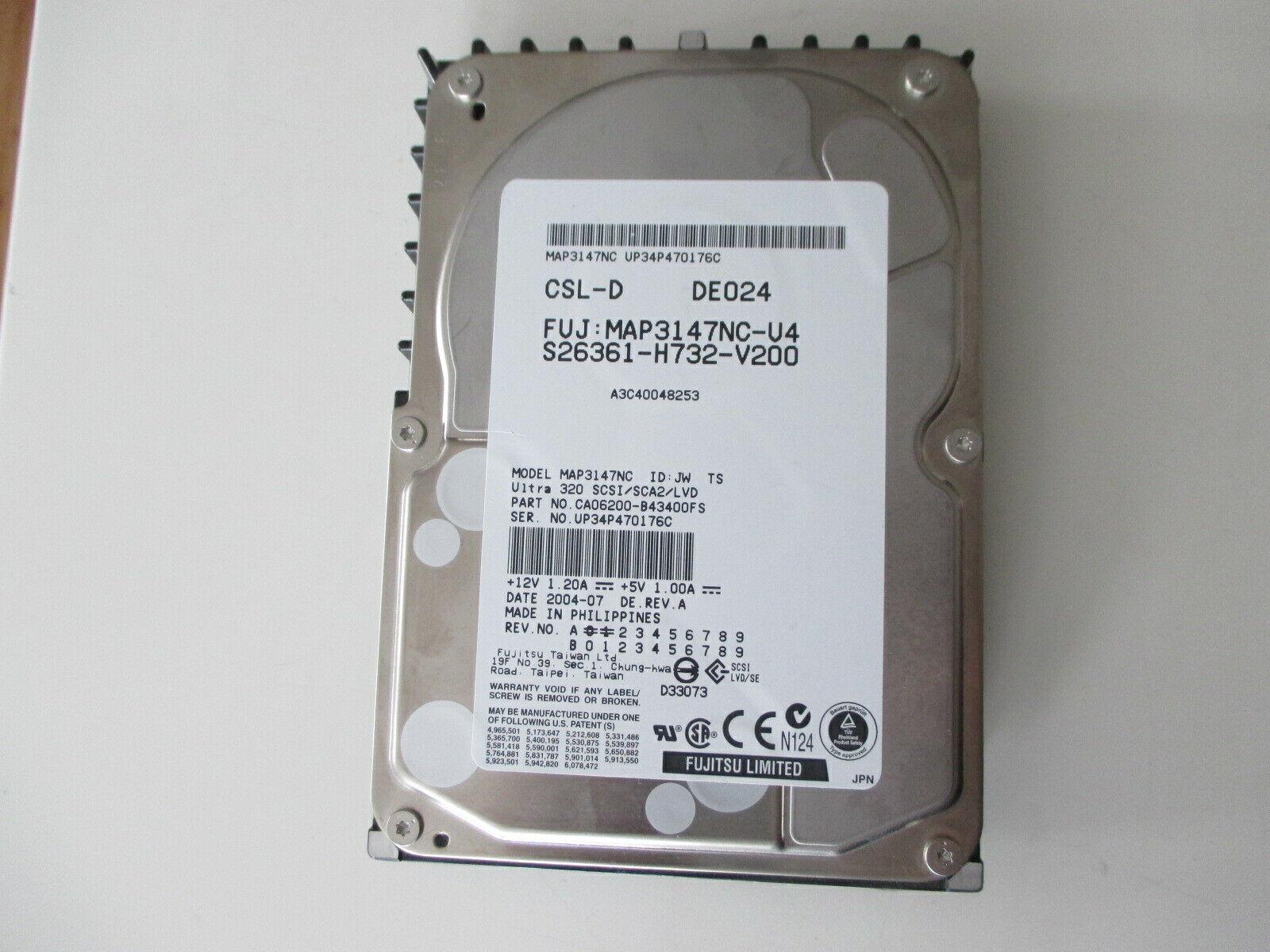 FUJITSU 147 GB MAP3147NC SCSI SCA 80-pin HDD Test ok siehe Foto