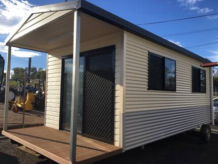 SHEDZONE Granny Flat 7.2 x 3.2 includes 1.2 x 3.2 deck and awning