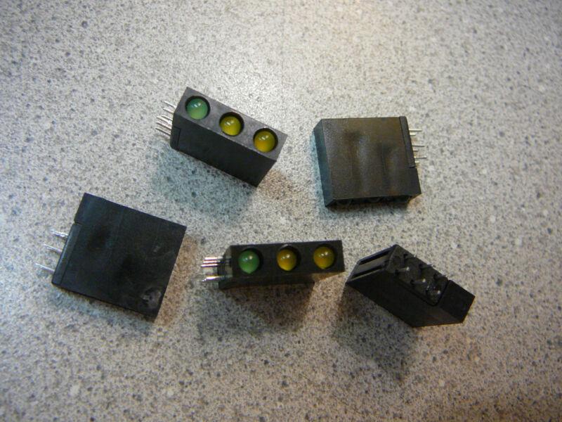 SELECTRONIC  Tri-Level 3mm CBI (LED), Array, Yellow/Yellow/Green  **NEW** 5/PKG