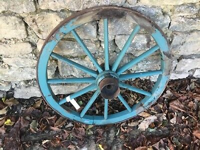 Lovely painted antique cart wheel