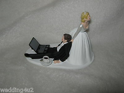 Wedding  Reception Party ~Laptop Computer~ Game Gaming Coffee Cup Cake Topper - Wedding Reception Games
