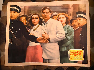 International Settlement 1938 20th Century Fox lobby card Dolores Del Rio