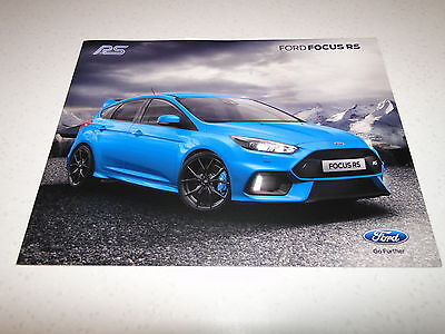 Ford Focus RS Pre-Launch Brochure 2016 - July 2015 Issue