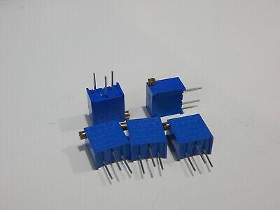 Bourns 3299z-1-102 1k Ohm 25 Turn Side Adjust Trim Potentiometer - Lot Of 5