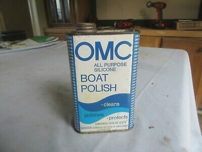 Vintage Empty Pint OMC Boat Polish Oil Can Only 1 on eBay Lot 20-51