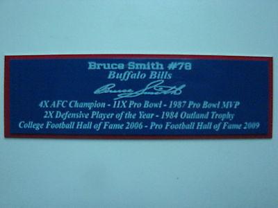 (Bruce Smith Autograph Nameplate Buffalo Bills Autograph Helmet Jersey Football)