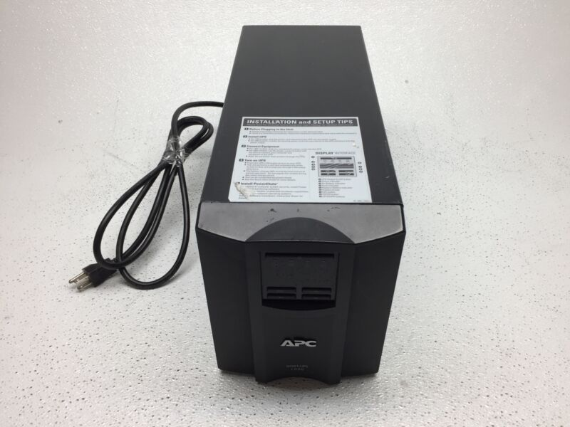 APC Smart-UPS 1000VA Battery Backup, SMT1000 With Wiring, NO Batteries, Tested