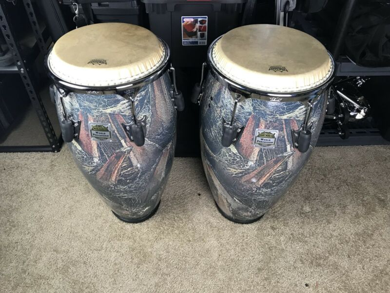 CONGAS REMO LEGENDARY SERIES PALMILLA 11-3/4 & 12-1/2 w/LP STANDS AND BAGS