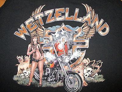 vtg BIKER TANK TOP Motorcycle Mitch Ryder Crazy Joe Concert Sexy Woman Wizard XL