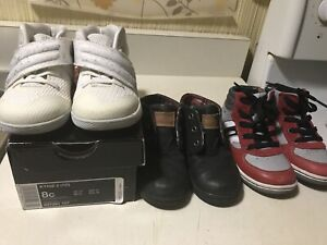 Toddler Boys Shoes Size 8 - 3pairs for $40