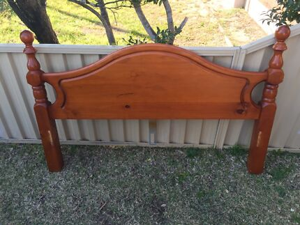 Wood Bed head frame for Queen size bed Sans Souci Rockdale Area Preview