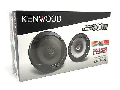 "KENWOOD KFC-1666S 6.5-INCH 2-WAY CAR AUDIO COAXIAL SPEAKERS (PAIR) 6-1/2"" NEW"