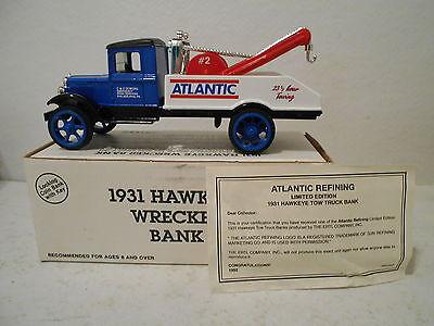 Ertl 1931 Hawkeye Wrecker Bank   Atlantic   C   C Towing  Philadelphia  Pa  1 34