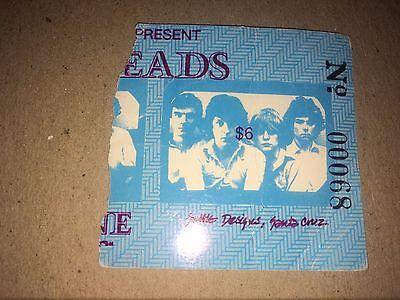talking heads december 1 1978 concert ticket stub santa Cruz California