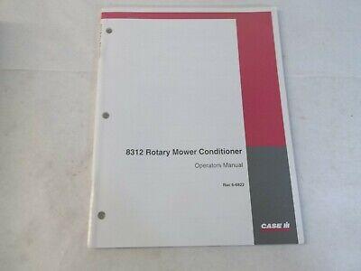 Case Ih 8312 Rotary Mower Conditioner Operators Manual Rac 6-6822