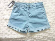 NEW SZ 10/12 HIGH WAIST DENM SHORTS WITH TAGS Collingwood Park Ipswich City Preview