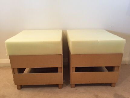Stool / ottomans x 3 (uncovered) Avalon Pittwater Area Preview