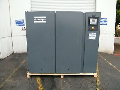 Atlas Copco Ga55ff 75 Hp Rotary Screw Air Compressor W Dryer Kaeser Ingersoll
