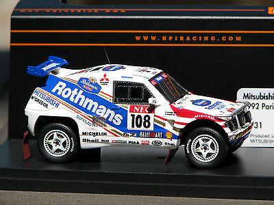 Rothmans Logos Applied - Mitsubishi Pajero #108 -- HPI #8931 RESIN 1:43