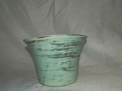 Vintage, 1960's, McCoy?, #59, Pottery, Turquoise & Gold, Planter