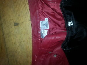 Ladies leather pants and vest