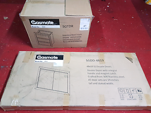 Gasmate built in stainless 3 draw and storage 2 door cabinetry Moorabbin Kingston Area Preview
