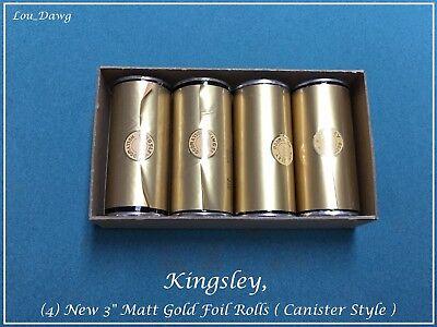 Kingsley Machine 4-new 3 Matt Gold Foil Rolls Hot Foil Stamping Machine