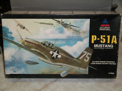 Accurate Miniatures 1/48 Scale P-51A Mustang for sale  New Orleans
