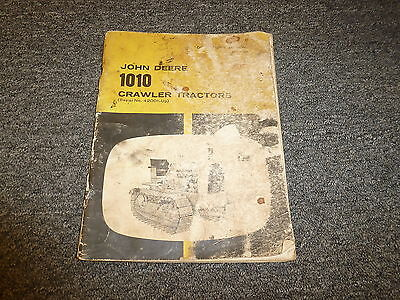 John Deere 1010 Crawler Tractor Owner Operator Manual User Guide Sn 42001-up