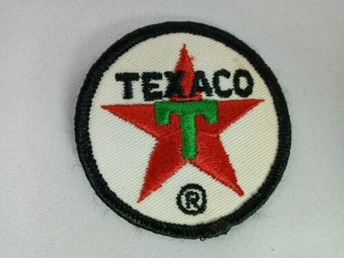 "Vintage Texaco Fuel Gasoline Patch 3"" Wide Red Star & Green ""T"""