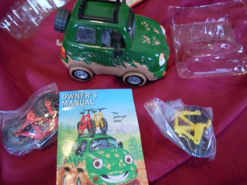 Chevron Cars Freddy 4-Wheeler With 2 Mountain Bikes 3 Piece Set 1996 Free Ship