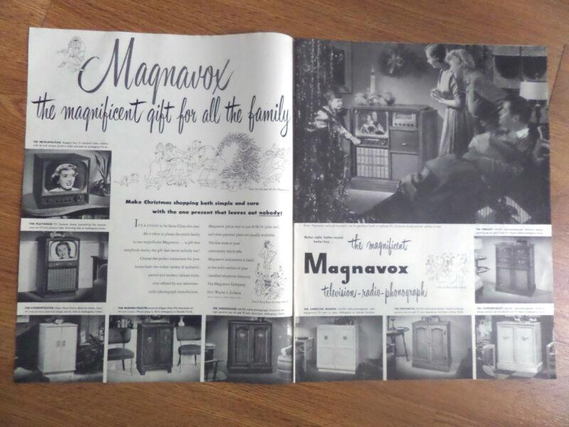 1950 Magnavox Radio-Phonograh TV Television Ad Shows 10 Models