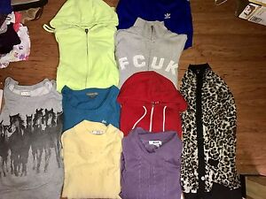 TNA, fcuk, Lacoste, adidas sweaters and other