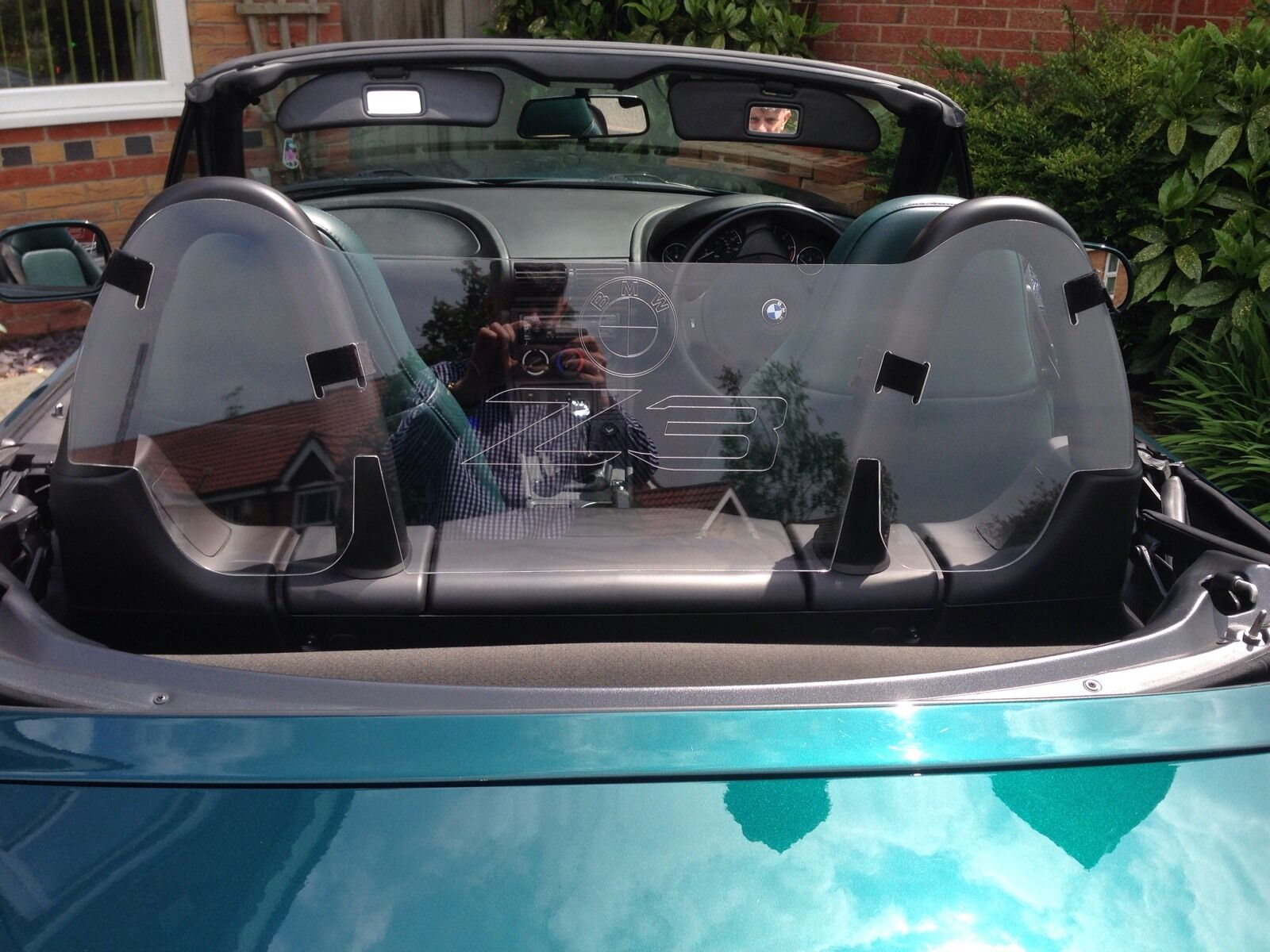 BMW Z3 Clear High Quality Wind Deflector - Shield Brand New With BMW Z3 Logo
