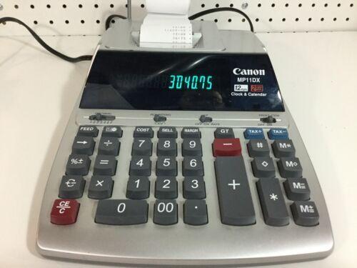 Canon MP11DX - 2 Color Heavy Duty Printing Calculator Adding Machine
