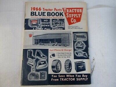 1966 Tractor Supply Tractor Parts Blue Book For Ford Farmall John Deere Ji Case