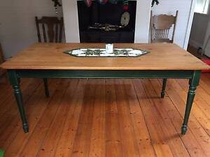 Antique farmhouse style wooden dining table Canada Bay Canada Bay Area Preview