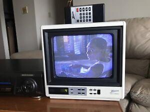 "Portable Zenith Space Command 9"" Color TV w/ Remote"
