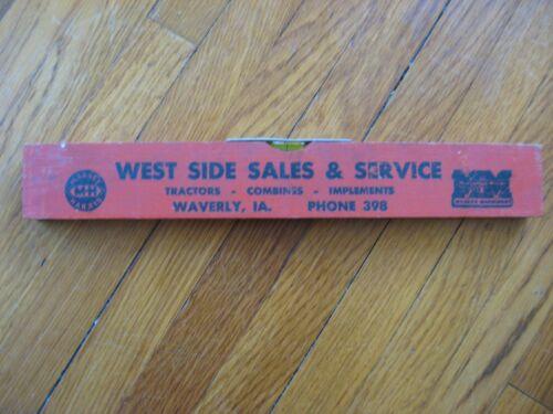 Minneapolis Moline Massey Harris Wood Ruler Level Waverly Ia. West Side Sales